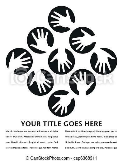 Círculos de mano diseñados. - csp6368311
