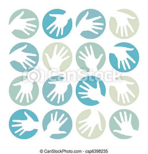 Círculos de mano diseñados. - csp6398235