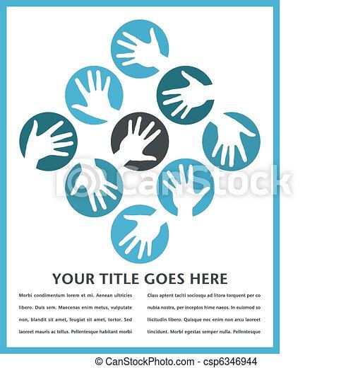 Círculos de mano diseñados. - csp6346944