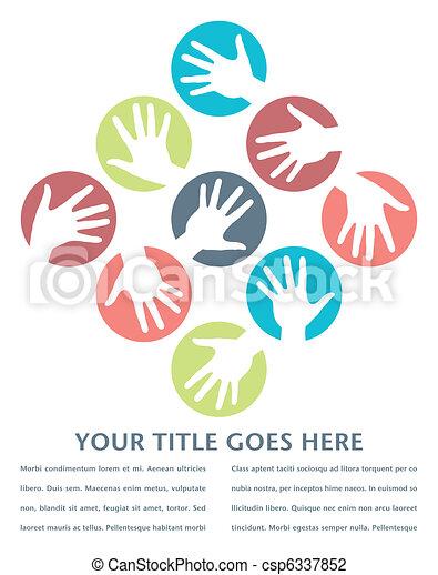 Círculos de mano diseñados. - csp6337852