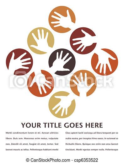 Círculos de mano diseñados. - csp6353522