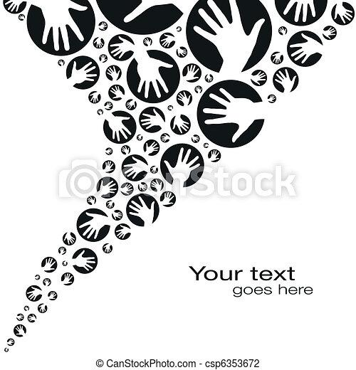 Círculos de mano diseñados. - csp6353672