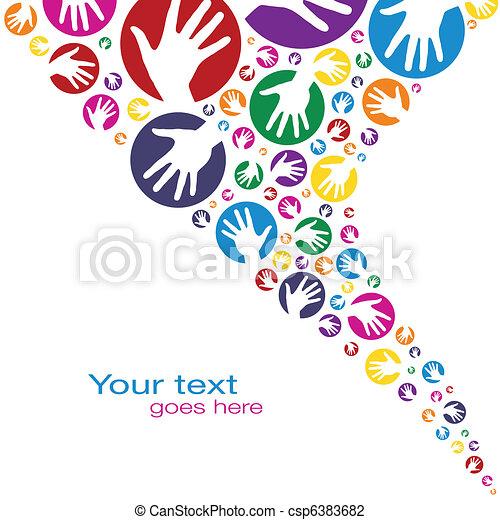 Diseño de círculos de manos. - csp6383682
