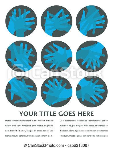 Círculos de mano diseñados. - csp6318087