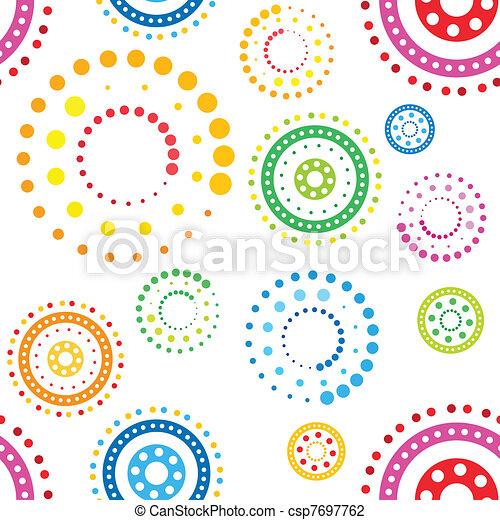 círculos, padrão, seamless - csp7697762