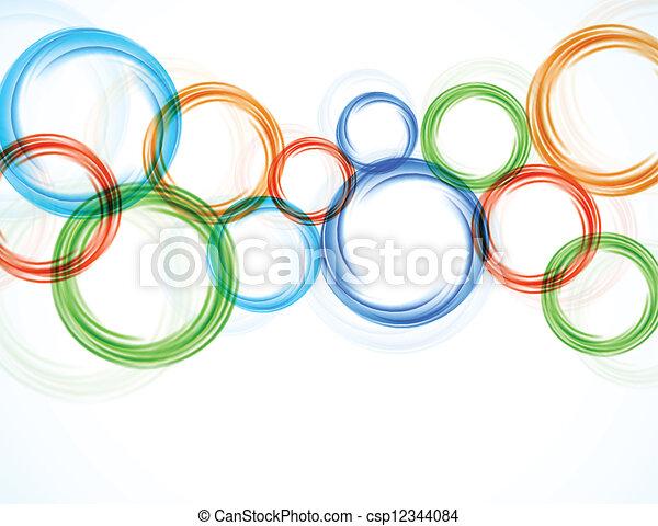Antecedentes con círculos coloridos - csp12344084