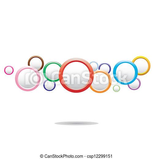 Trasfondo abstracto y colorido con círculos - csp12299151
