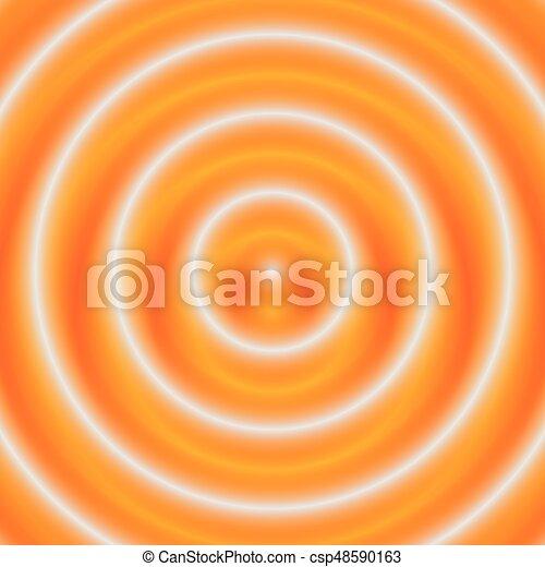 círculos, resumen, pattern., ilustración, monocromo, concéntrico, geométrico, circular - csp48590163