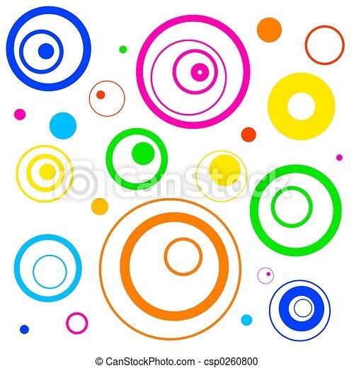 círculos, retro - csp0260800
