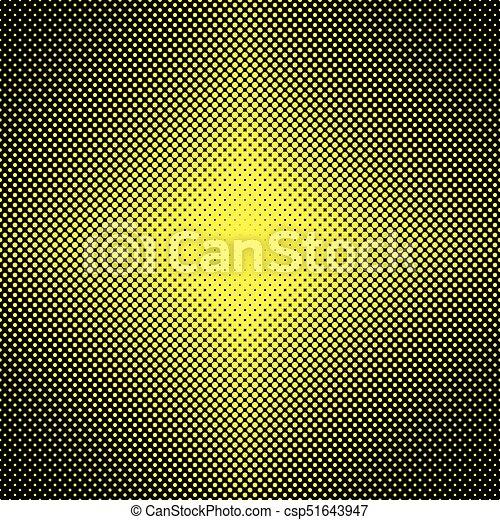 Abstraer la mitad del patrón de puntos de fondo - ilustración vectorial de los círculos en diferentes tamaños - csp51643947