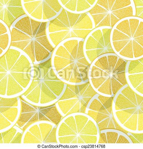 cítrico, experiência., limão, seamless - csp23814768