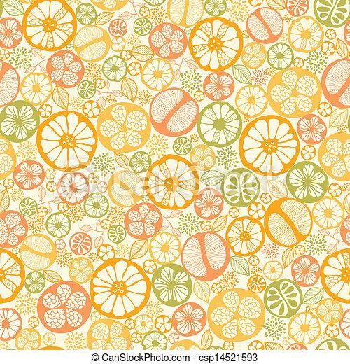 cítrico, padrão, seamless, fundo, fatias - csp14521593