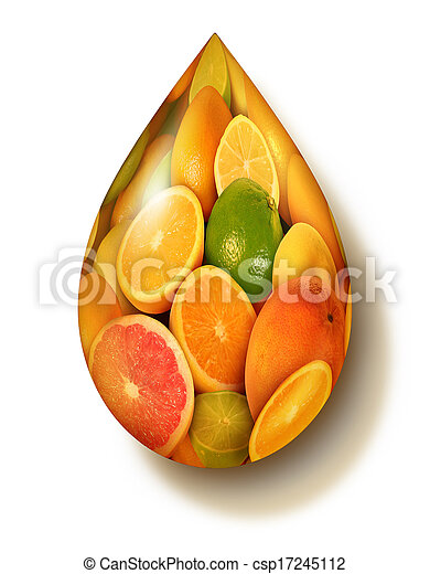 cítrico, símbolo, fruta - csp17245112