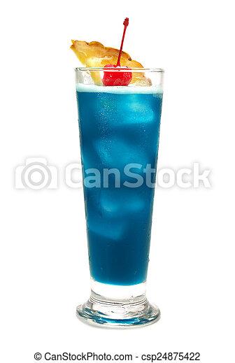 Coleccion de cócteles - azul hawaiano - csp24875422