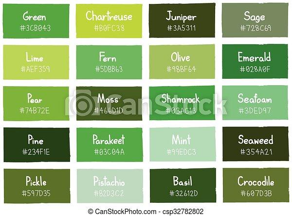 Codigo Tono Sombra Color Fondo Verde Nombre Codigo Tono - Tonos-verde