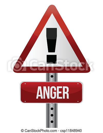 Una señal de ira - csp11848940