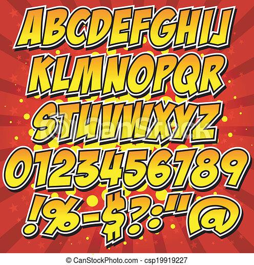 Comics estilo colección de alfabeto se - csp19919227
