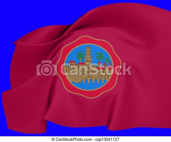 Bandera De Cordoba City España La Bandera De La Ciudad De Cordoba España Cierra Canstock