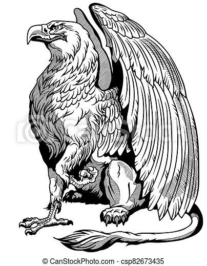 côté séance blanc vue griffin noir ailes griffon