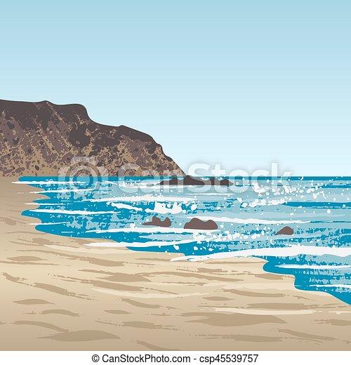 côte, océan, rocher - csp45539757