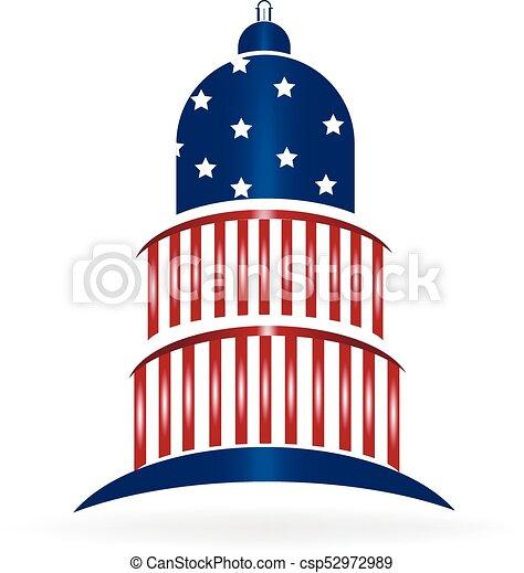 Logo de la bandera de EE.UU - csp52972989