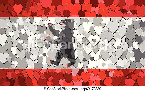 cœurs, drapeau, fait, berlin, fond - csp69172339