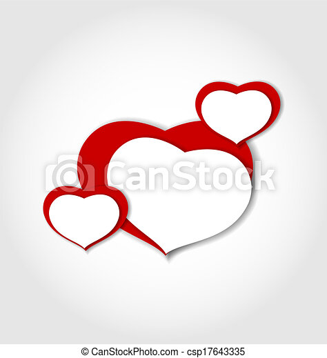 cœurs, fait, autocollants, fond, valentin - csp17643335