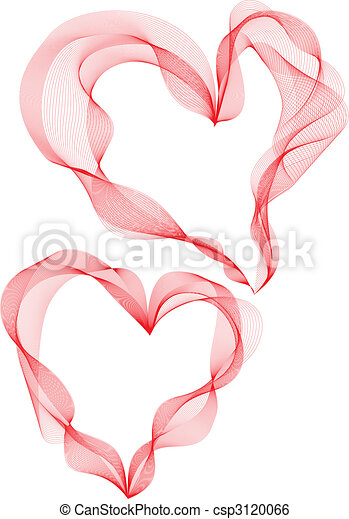 cœurs, ruban - csp3120066