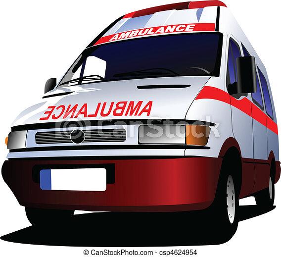 c, över, ambulans, nymodig, white., skåpbil - csp4624954
