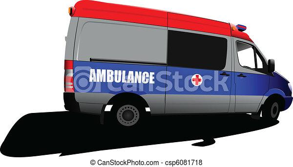 c, över, ambulans, nymodig, white., skåpbil - csp6081718