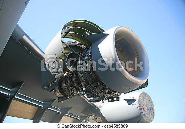 C-17 Military Aircraft Engine - csp4583809