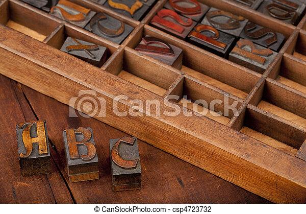c, b, briefe, weinlese, a, art - csp4723732
