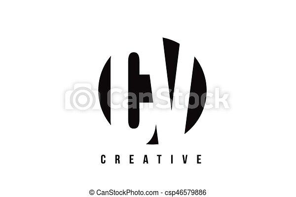 C Cv Arrière Plan Conception Lettre V Logo Cercle Blanc