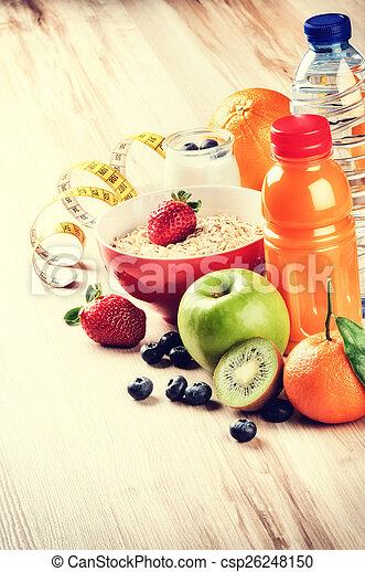 c, estilo vida, saudável, concept., suco, condicão física, frutas, fresco - csp26248150