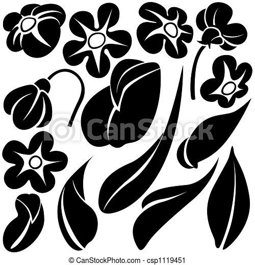 c, fleur, éléments - csp1119451