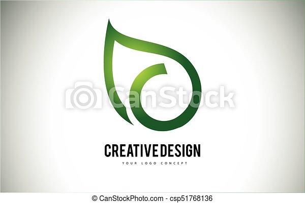 c folha esboço verde letra logotipo desenho c folha esboço