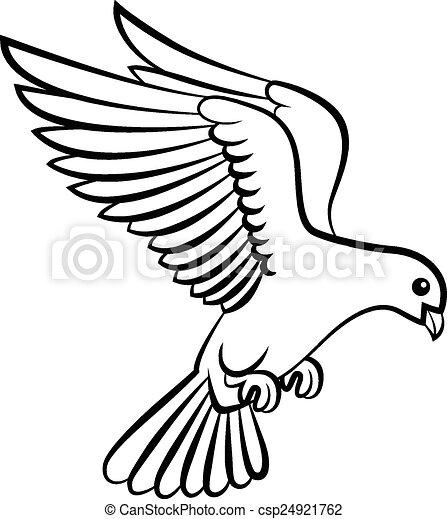 C Pace Cartone Animato Logotipo Colomba Uccelli