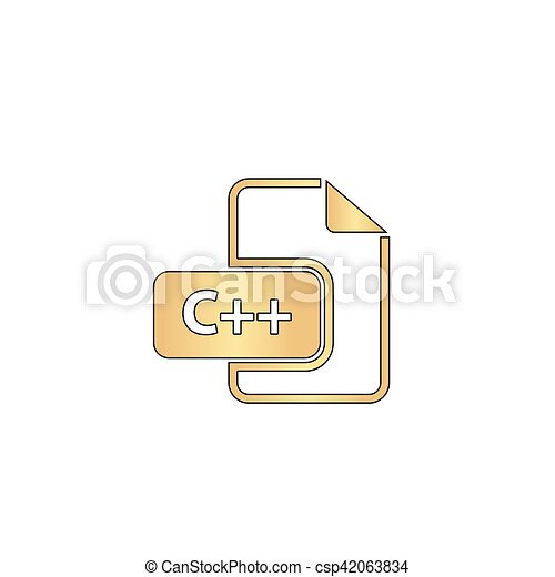 C Plus Computer Symbol C Plus Plus Gold Vector Icon With Black