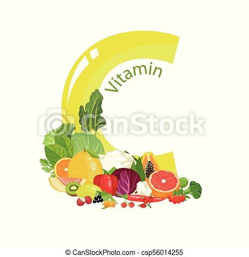 C, vitamine. C, naturel, légumes, vitamine, (ascorbic, contenu, acid ... 326b56ceb2a