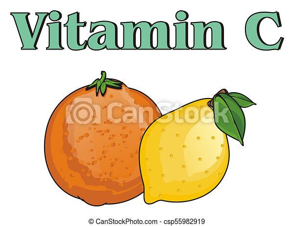 C, vitamine. C, a, citron, vitamine, orane. a742a12a764