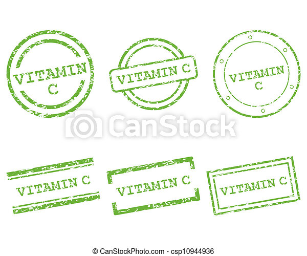 c, vitamine, postzegels - csp10944936