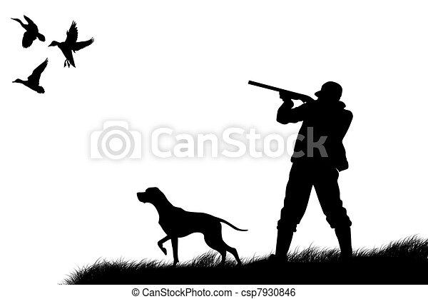 caçador - csp7930846