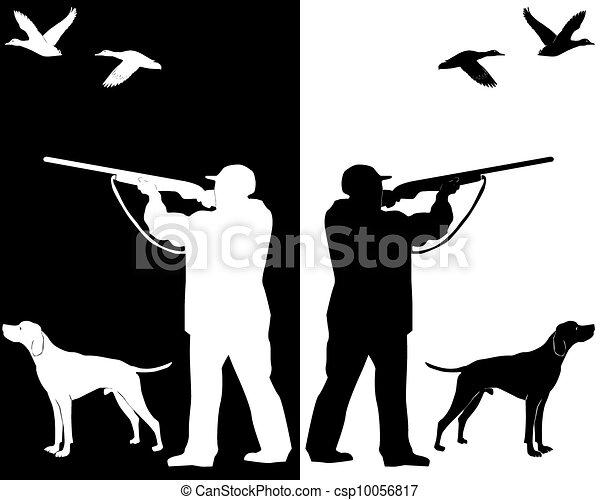 caçador, cão - csp10056817