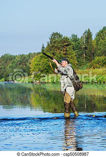 caçador, caça, pato - csp50508987