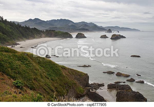 Bahía de Crescent en la costa de Corea del cañón - csp6777905