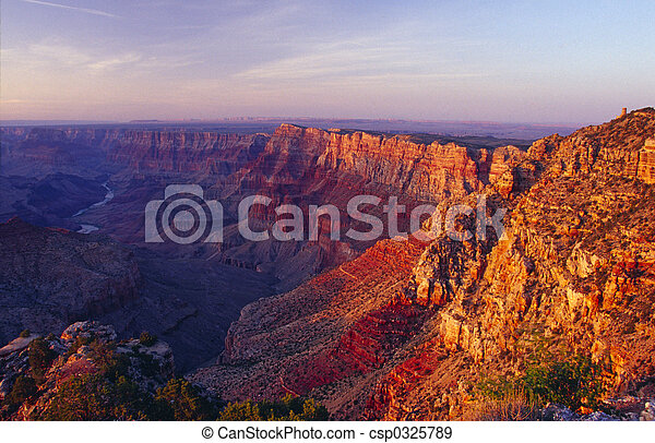 El parque nacional del gran cañón - csp0325789