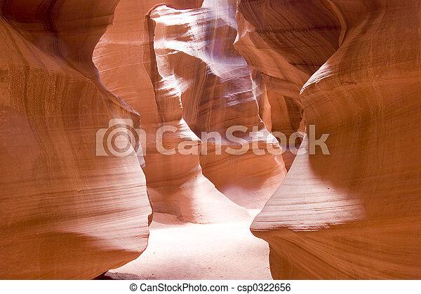 La belleza natural de los cañones antílopes de Arizona - csp0322656