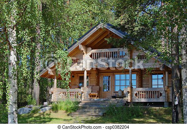 cabaña, verano - csp0382204