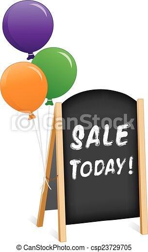 Firma, venta hoy, caballete de pizarra - csp23729705