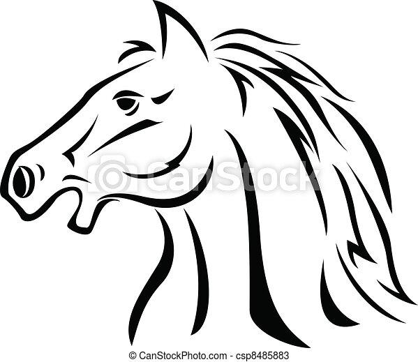 Grficos vectoriales de caballo cabeza  Vector caballo tatuaje